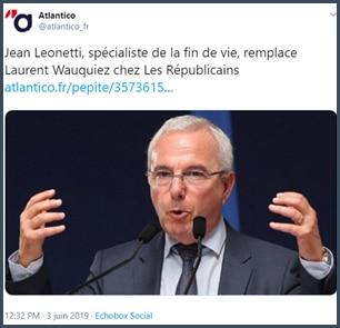 Tweet Atlantico Jean Leonetti remplace Wauquiez