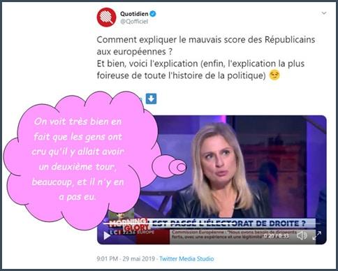 Tweet Quotidien explication Valérie Debord