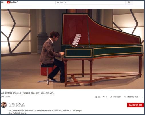 Capture d'écran vidéo JSF au piano
