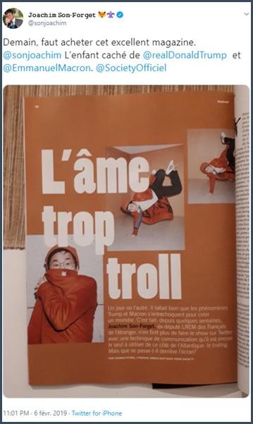 Tweet Joachim Son-Forget Demain, acheter cet excellent magazine