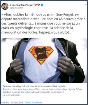 Tweet JSF Oubliez la méthode Joachim Son-Forget