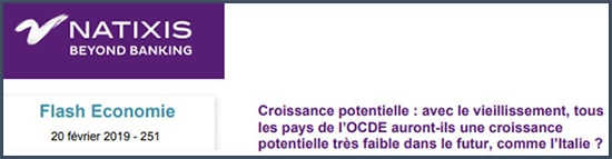 Natixis croissance potentiel avenir de l'OCDE