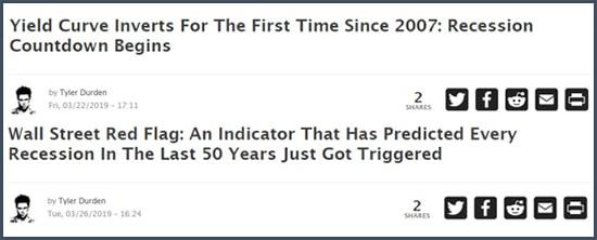 Zero Hedge la courbe des rendements annonce la récession