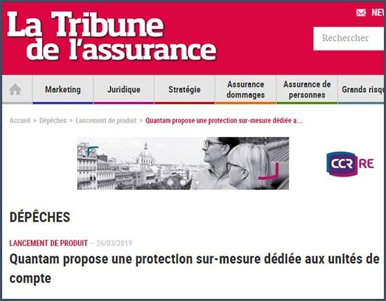 La Tribune de l'assurance Quantam propose une protection sur-mesure dédiée aux unités de compte
