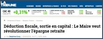 La Tribune Le Maire veut révolutionner l'épargne retraite
