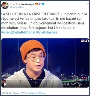 Tweet JSF La solution à la crise en France
