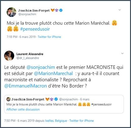 TWeet JSF je la trouve plutôt chou cette Marion Maréchal