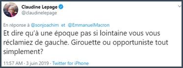 Tweet Claudine Lepage