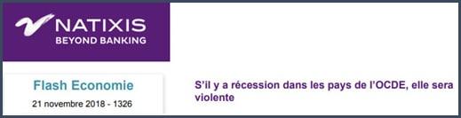 Natixis S'il y a récession dans les pays de l'OCDE elle sera violente