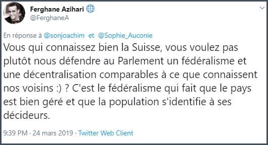 Tweet Ferghane Azihari Vous qui connaissez bien la Suisse