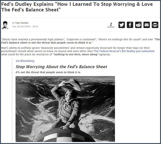 ZeroHedge réagit à déclaration de Bill Dudley