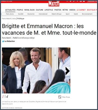 Paris Match Brigitte et Emmanuel Macron les vacances de M. et Mme. tout-le-monde