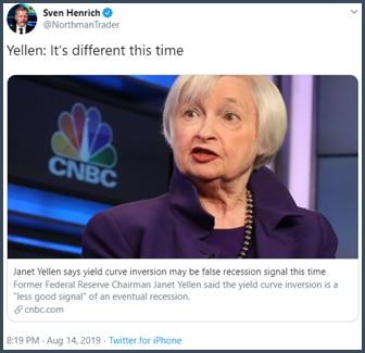 Tweet Yellen c'est différent cette fois