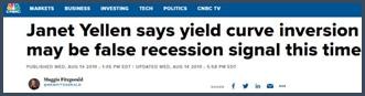 Janet Yellen affirme que l'inversion de la courbe des rendements pourrait être un faux signe de récession cette fois-ci