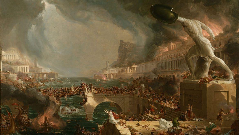 Destruction, peinture de Thomas Cole