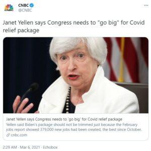 yellen plan de relance